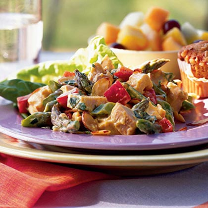Chicken Salad with Asparagus and Toasted Almonds