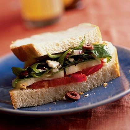 Greek Sandwich with Feta Vinaigrette