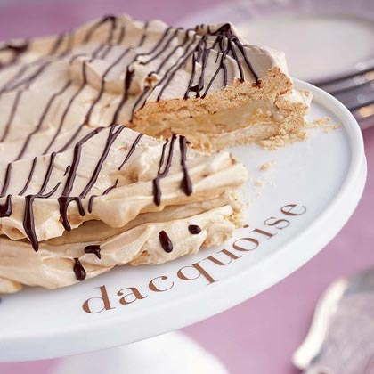 Dacquoise with Mocha Sauce