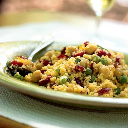 Curried Couscous Salad with Dried Cranberries