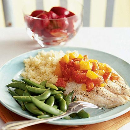 Baked Snapper with Tomato-Orange Sauce