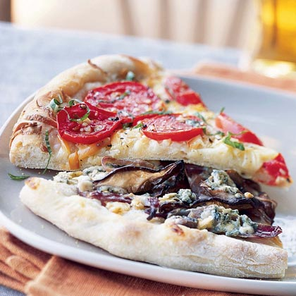 Shiitake Mushroom and Gorgonzola Pizza