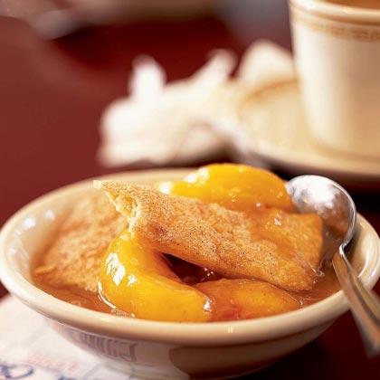 Peach Cobbler with a Cinnamon Crust