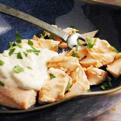 Samak Tarator (Poached Fish with Pine Nut Sauce)