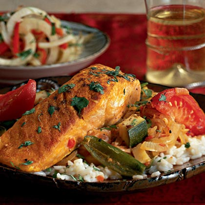 Salmon Kalia in Panch Phoron Sauce