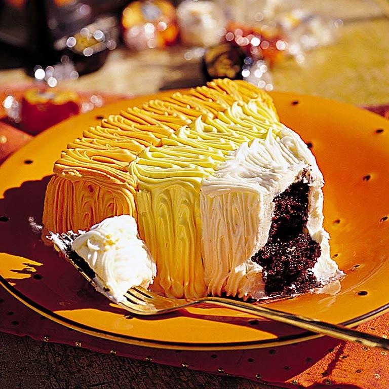 Candy Corn Chocolate Cakes