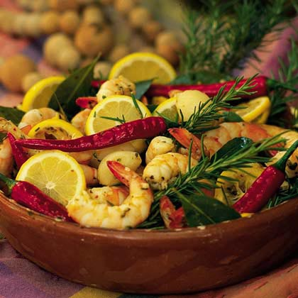 Garlic-and-Rosemary Shrimp