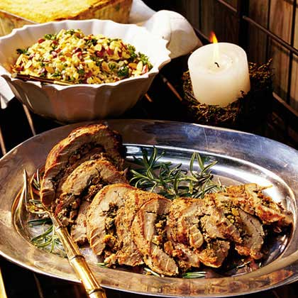 Grilled Pork Tenderloins with Rosemary Pesto