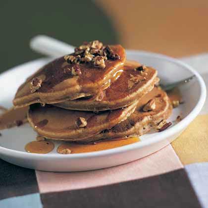 Sweet Potato-Pecan Pancakes