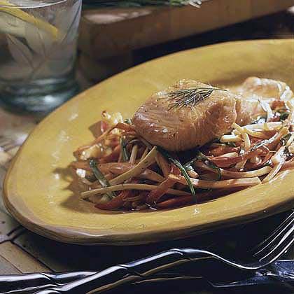 Glazed Salmon with Stir-fried Vegetables