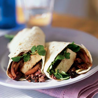 Zesty Tofu Wraps with Olive Tapenade