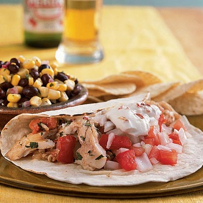Snapper Tacos with Chipotle Cream