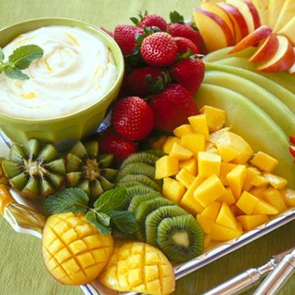 Tropical Fruit with Mango Cream