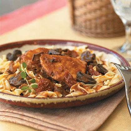 Pork Roast with Three-Mushroom Ragout