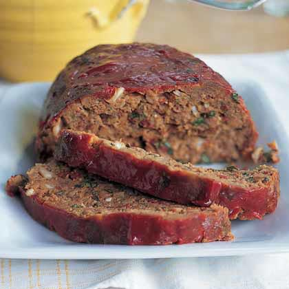 Italian Meat Loaf with Fresh Basil and Provolone