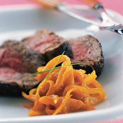 Pepper-Crusted Beef Tenderloin with Kumquat Marmalade
