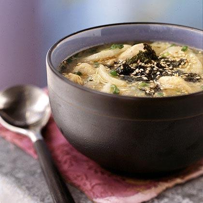 D'uk Gook (Rice Cake Soup)