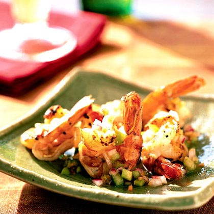 Butterflied Shrimp with Habanero-Tomatillo Salsa