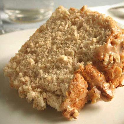 Maple-Brown Sugar Angel Cake with Walnuts