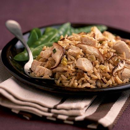 Chicken-Mushroom-Rice Toss