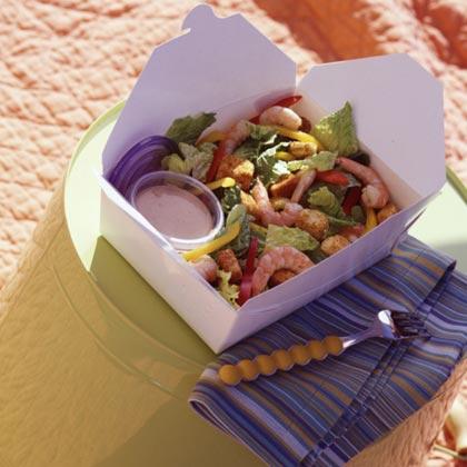 Southwestern Shrimp Caesar Salad