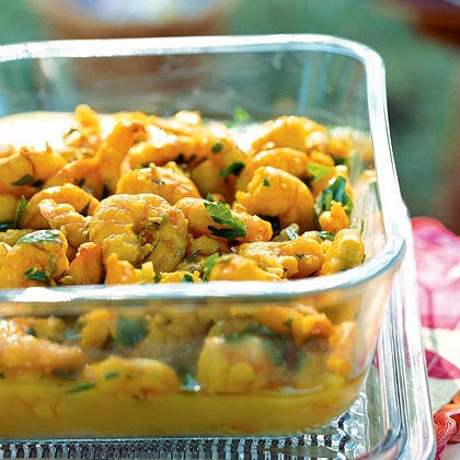Saffron Shrimp with Fennel Seeds