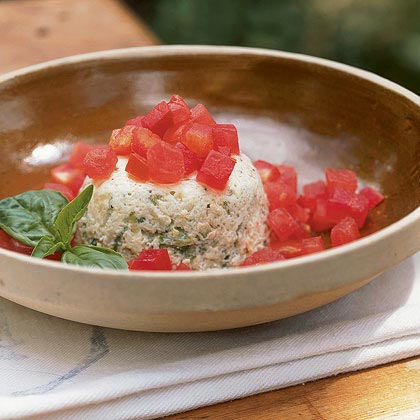 Zucchini Custards with Tomatoes and Basil