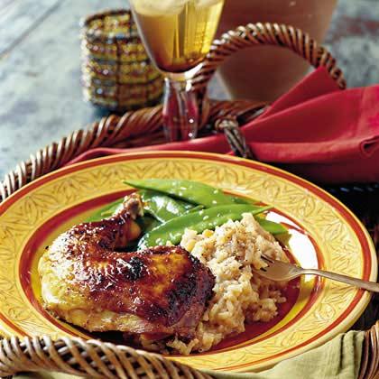 Glazed Roasted Chicken