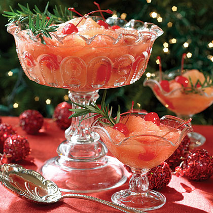 Grapefruit Compote in Rosemary Syrup