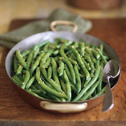 Green Beans with Honey-Mustard Glaze