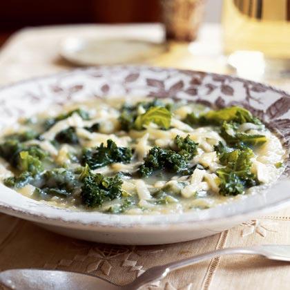 Potato-Kale Soup with Gruyère