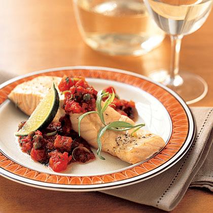Roast Salmon with Tomato Sauce
