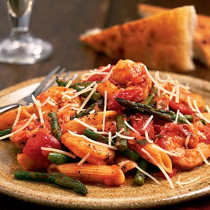 Shrimp, Asparagus, and Penne Pasta