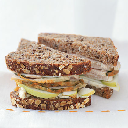 Turkey Sandwiches with Apple and Walnut Herb Mayo