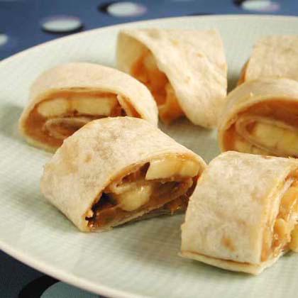Peanut Butter-Banana Spirals