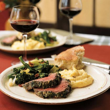 Herb, Garlic, and Mustard-Crusted Fillet of Beef