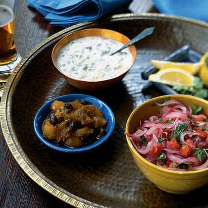 Raita (Indian Yogurt and Cucumber Condiment)
