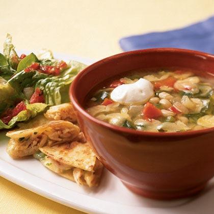 White Bean-Rajas Soup