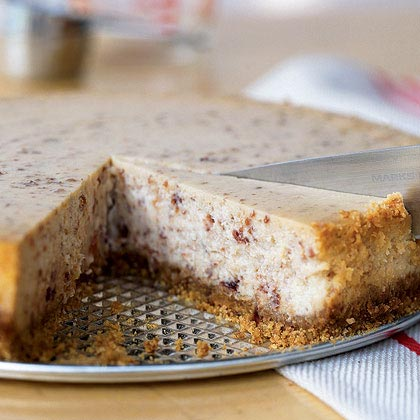 Cranberry-Speckled White Chocolate Cheesecake