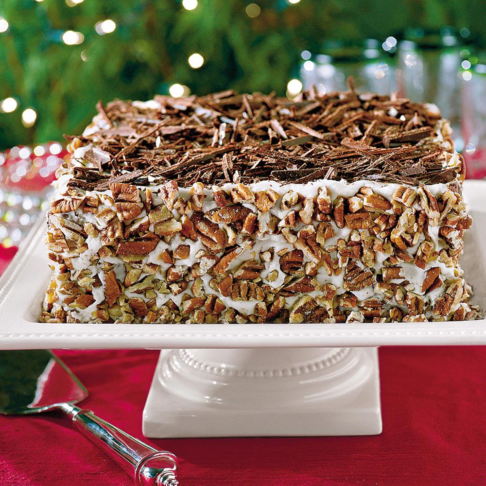 Chocolate-Bourbon-Pecan Cake