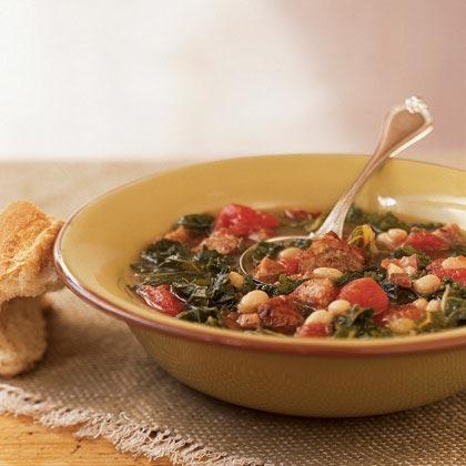 Sausage, Kale, and Bean Soup