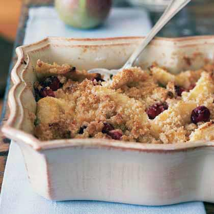 Cranberry and Apple Crumble