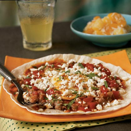 Huevos Rancheros with Queso Fresco