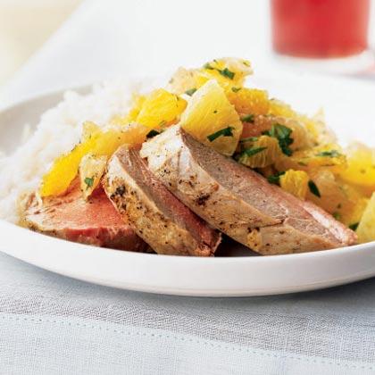 Pork Tenderloin with Xec (Mayan Citrus Salsa)