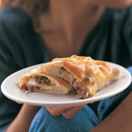 Sausage, Fennel, and Provolone Calzones