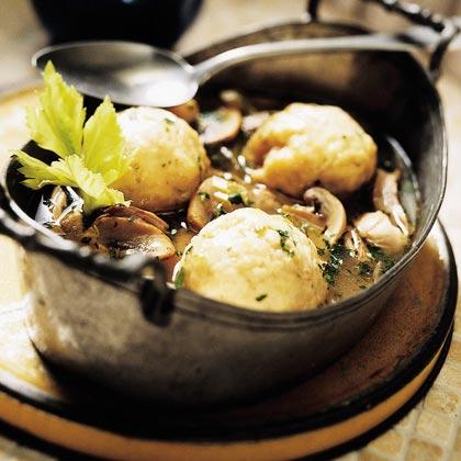 Garlic Turkey and Dumplings