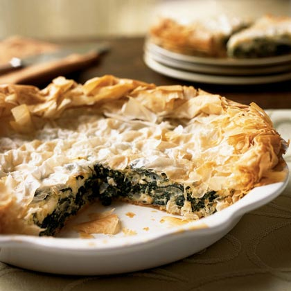 Greek Greens and Sweet Onion Pie