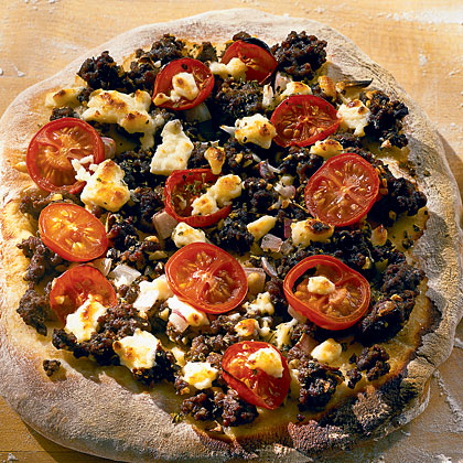 Greek Pizza with Feta