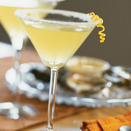 Frosty Lemon Martini