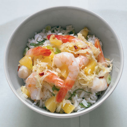Pineapple Shrimp with Scallion Rice